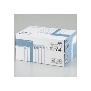 (まとめ)TANOSEEαエコカラーペーパーIIA4ライトブルー業務用パック1箱(5000枚:500枚×10冊)【×10セット】