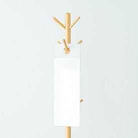 フックミラー(60)(ホワイト/白) 幅20cm×高さ60cm ウォールミラー/壁掛け/鏡/飛散防止加工/スリム/姿見/省スペース/日本製/モダン/完成品/NK-600