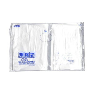 規格袋12号100枚入03LLD透明K12【(40袋×5ケース)合計200袋セット】38-457