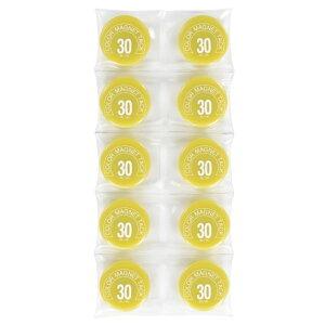 (業務用100セット)ミツヤカラーマグネットMR-30黄30mm10個【×100セット】
