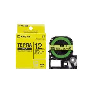 (業務用50セット)キングジムテプラPROテープSK12Y蛍光黄に黒文字12mm【×50セット】