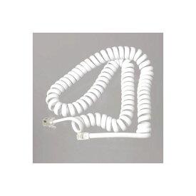 (まとめ)YAZAWA テレホン受話器コード 3m 白 TP603W【×10セット】