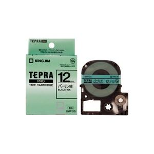 (業務用50セット)キングジムテプラPROテープパールSMP12G緑に黒文字12mm【×50セット】