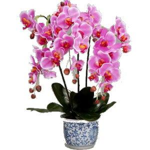 光触媒 胡蝶蘭/フェイクフラワー 【3本立て ピンク】 脱臭効果 インテリア 陶器製鉢入り