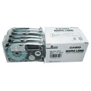 (業務用5セット)カシオ計算機(CASIO)テープXR-6X-5P-E透明に黒文字6mm5個【×5セット】