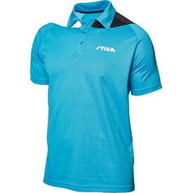 【クーポン配布中】STIGA(スティガ) 卓球ユニフォーム PACIFIC SHIRT パシフィックシャツ ブルー×ブラック S