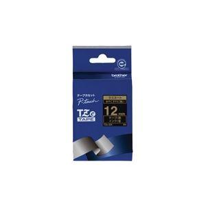 (業務用30セット)ブラザー工業文字テープTZe-334黒に金文字12mm【×30セット】