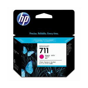 (まとめ)HP711インクカートリッジマゼンタ29ml】個染料系CZ135A1箱(3個)【×3セット】