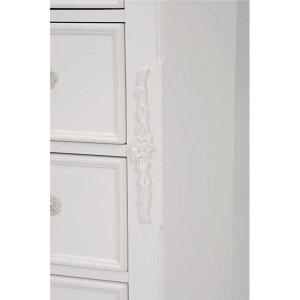ヨーロッパ調チェスト/収納棚【4段】幅80cm×奥行40cm木製鍵付きアンティークテイストRCH-1581【代引不可】