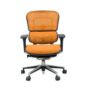 オフィスチェアアームレスト付きランバーサポート付きErgohumanBasic(エルゴヒューマンベーシック)ロータイプオレンジ【代引不可】