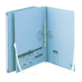 (業務用セット) のび-るファイル エスヤード 紙表紙 外ひも付(背幅17-117mm) AE-50FH-10 ブルー 1冊入 【×5セット】