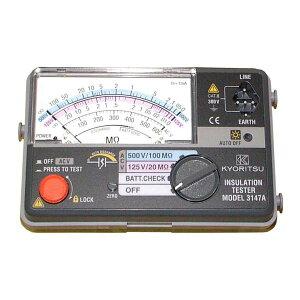 共立電気計器キューメグ2レンジ小型絶縁抵抗計3147A【代引不可】