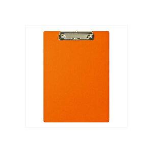 (業務用セット) ハンディー・クリップボード A4 E型 オレンジ/QB-A401-OR【×10セット】