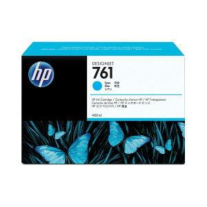 (まとめ)HP761インクカートリッジシアン400ml染料系CM994A1個【×3セット】
