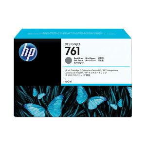 (まとめ)HP761インクカートリッジダークグレー400ml染料系CM996A1個【×3セット】