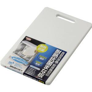 【50セット】リスHOME&HOME耐熱抗菌まな板Mホワイト【代引不可】