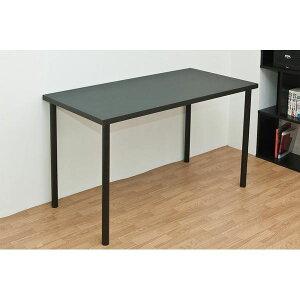 フリーテーブル(作業台/PCデスク/書斎テーブル) 幅120cm×奥行60cm ブラック(黒) 天板厚3cm【代引不可】