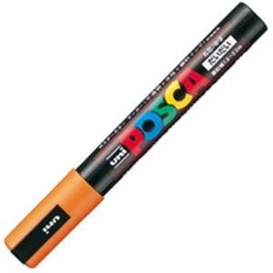 (業務用200セット)三菱鉛筆ポスカPC-5M.4中字橙【×200セット】