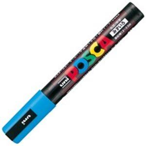 (業務用200セット)三菱鉛筆ポスカPC-5M.8中字水色【×200セット】