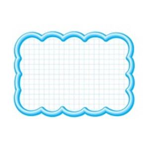 (業務用100セット)タカ印抜型カード16-4197雲形大ブルー【×100セット】