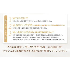 マットレスクイーン【EVA】ブラウンホテルプレミアムボンネルコイル硬さ:かため日本人技術者設計超快眠マットレス抗菌防臭防ダニ【EVA】エヴァ
