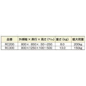 ミスギ段差スロープ】アルミスロープRC-300縁無し型【出幅800mmX奥行1250mm高さ100〜300mm重さ13.0kg耐荷重150kg】【代引不可】