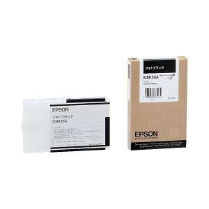 (まとめ)エプソンEPSONPX-P】K3インクカートリッジフォトブラック110mlICBK36A1個【×6セット】