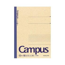 (まとめ) コクヨ 再生紙キャンパスノート(中横罫) セミB5 B罫 30枚 ノ-E3BN 1冊 【×40セット】