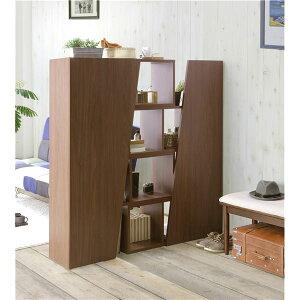 スライドシェルフ/収納棚【4段幅95cm】ブラウン『ダイナ』見せる収納【完成品】【代引不可】