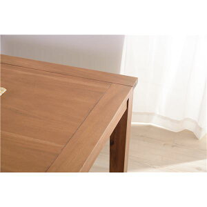 木製ダイニングテーブル/リビングテーブル【幅120cm×奥行80cm】アカシア材オイル仕上げ『アルンダ』