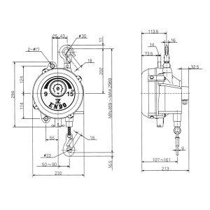 遠藤工業ELF-30スプリングバランサー22.0-30.0KG