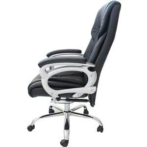 リクライニングチェア(オフィスチェアー/パソコンチェア)Emblem昇降式角度高さ調節可キャスター/肘付き