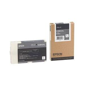 (まとめ)エプソンEPSONインクカートリッジブラックLサイズICBK54L1個【×3セット】
