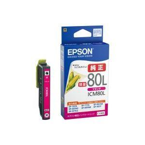 (業務用40セット)エプソンEPSONインクカートリッジICM80Lマゼンダ【×40セット】