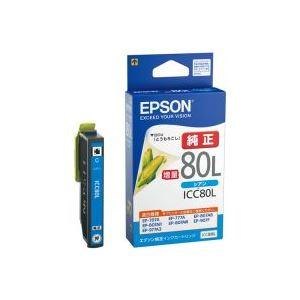(業務用40セット)エプソンEPSONインクカートリッジICC80Lシアン【×40セット】