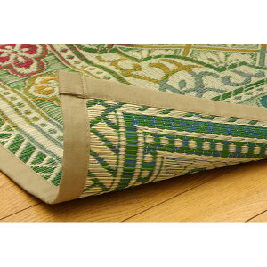 純国産い草花ござカーペット『アシック』グリーン本間4.5畳(286×286cm)