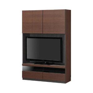 壁面テレビボードTVボード幅120cmブラウン【PORTALE】ポルターレ【日本製】【代引不可】