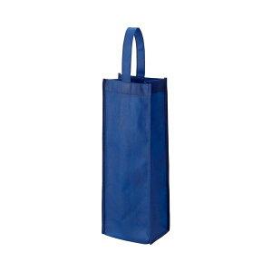 (まとめ) TANOSEE 不織布ワイン袋 ヨコ130×タテ370×マチ幅85mm ネイビー 1パック(10枚) 【×5セット】
