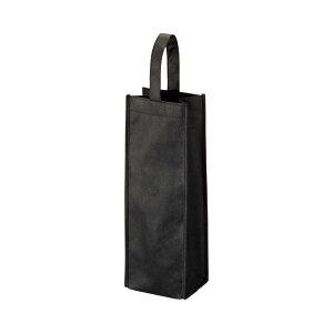 (まとめ) TANOSEE 不織布ワイン袋 ヨコ130×タテ370×マチ幅85mm ブラック 1パック(10枚) 【×5セット】