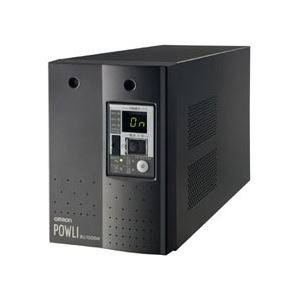 オムロン無停電電源装置(常時インバータ給電)1000VA/700W:縦置BU100SW