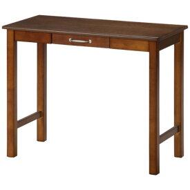 北欧風 デスク/マルチテーブル 【ミディアムブラウン】 幅90cm 引き出し1杯付き 『マンチェスター』【代引不可】