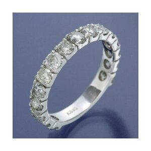K18WGダイヤリング指輪2ctエタニティリング16号