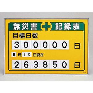 数字差込み式記録板無災害記録表目標日数記録-200B【代引不可】