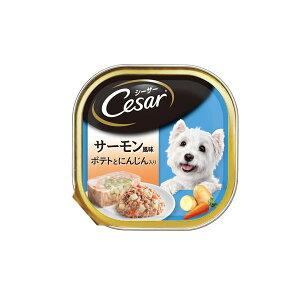 (まとめ)シーザー サーモン風味 ポテトとにんじん入り 100g (ペット用品・犬フード)【×96セット】
