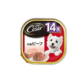 【クーポン配布中】(まとめ)シーザー 14歳 吟選ビーフ 100g (ペット用品・犬フード)【×96セット】