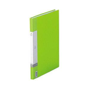 (まとめ) リヒトラブ リクエスト クリヤーブック(クリアブック)(サイドベンツ) A4タテ 40ポケット 背幅16mm 黄緑 G3401-6 1冊 【×30セット】