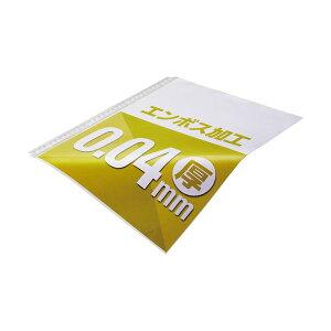 (まとめ)TANOSEE クリアファイル用リフィルA4タテ 2・4・30穴 エンボス加工 1セット(500枚:100枚×5パック) 【×3セット】