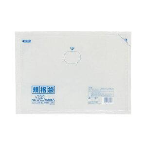 (まとめ) ジャパックス 規格袋 13号 ヨコ260×タテ380×厚み0.03mm K-13 1パック(100枚) 【×30セット】
