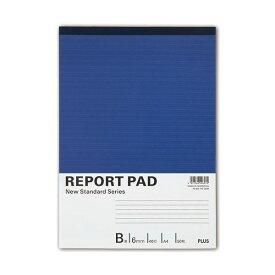 (まとめ) プラス レポートパッド A4 B罫50枚 RE-250B 1セット(10冊) 【×5セット】