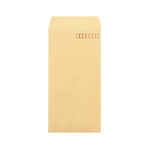 (まとめ)ピース R40再生紙クラフト封筒 テープのり付 長3 85g/m2 〒枠あり 業務用パック 497 1箱(1000枚) 【×3セット】